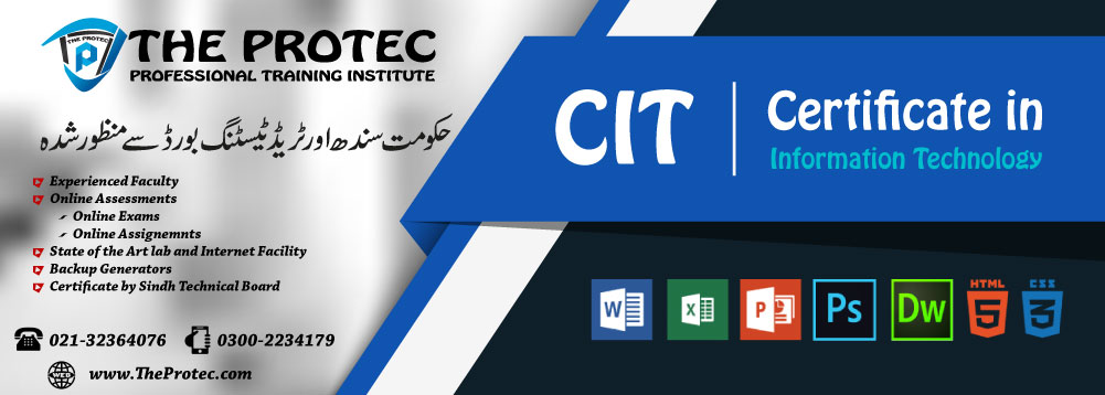 Certificate of Information Technology (CIT) Course Offered at The ProTec